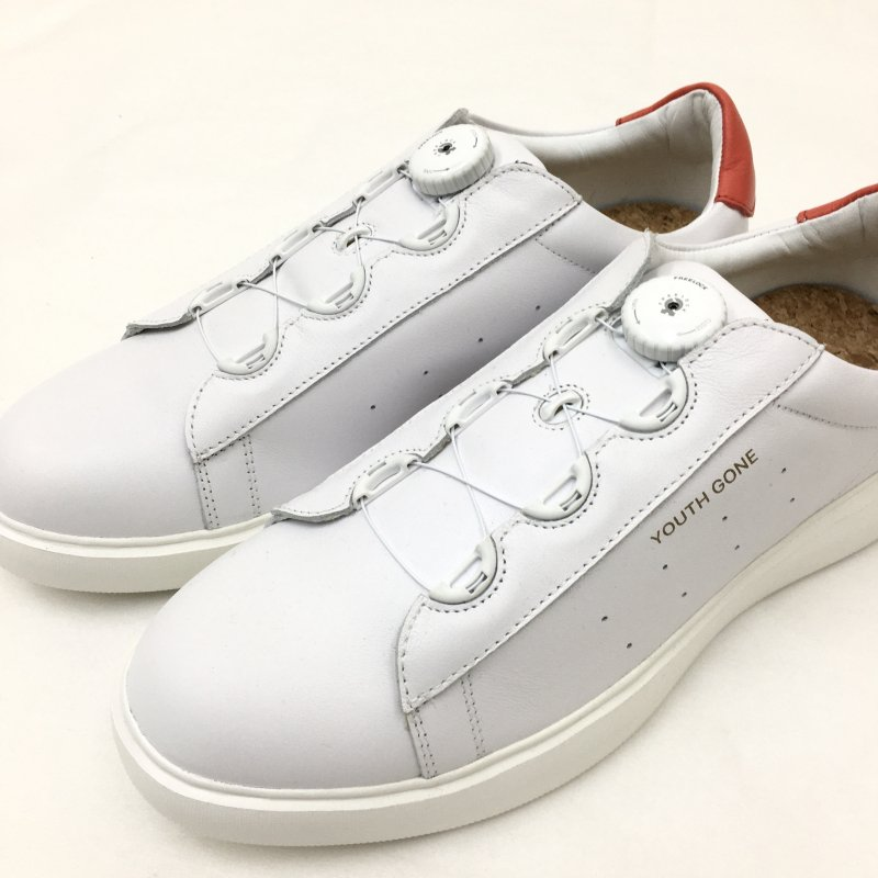 PG YOUTH GONE LETHER SNEAKERS  (WHITE)