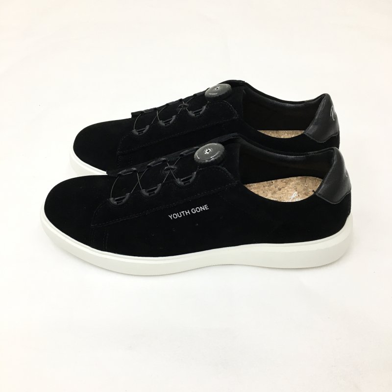 PG YOUTH GONE LETHER SNEAKERS  (BLACK SUEDE)