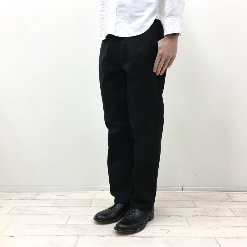 Le Sans Pareil COTTON TWILL TRADITIONAL WORK PANTS (BLACK)