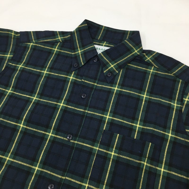 SASSAFRAS GREEN THUMB SHIRTS -TARTAN CHECK-(BLACK WATCH)