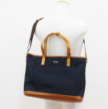 WONDER BAGGAGE GOODMANS DAILY 2WAY TOTE (NAVY)