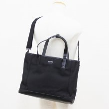 WONDER BAGGAGE GOODMANS DAILY 2WAY TOTE (BLACK)