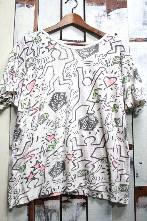 Keith Haring【キースへリング】 総柄Tシャツ 古着