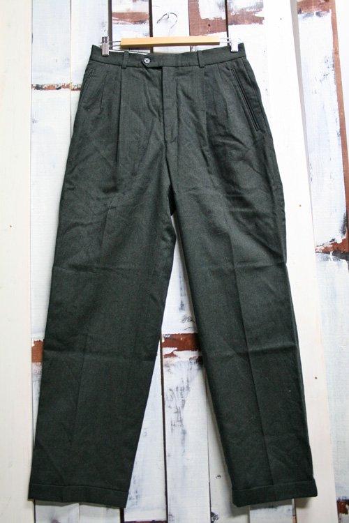 80年代 ウールスラックス 古着 ビンテージ グレイ