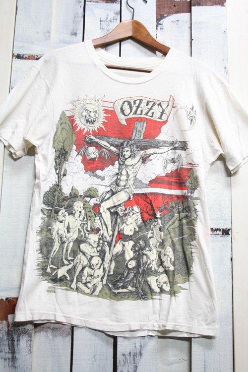 90年代 OZZY OSBOURNE 【オジーオズボーン】 ビンテージ バンドTシャツ 古着 ホワイト キリスト 発禁