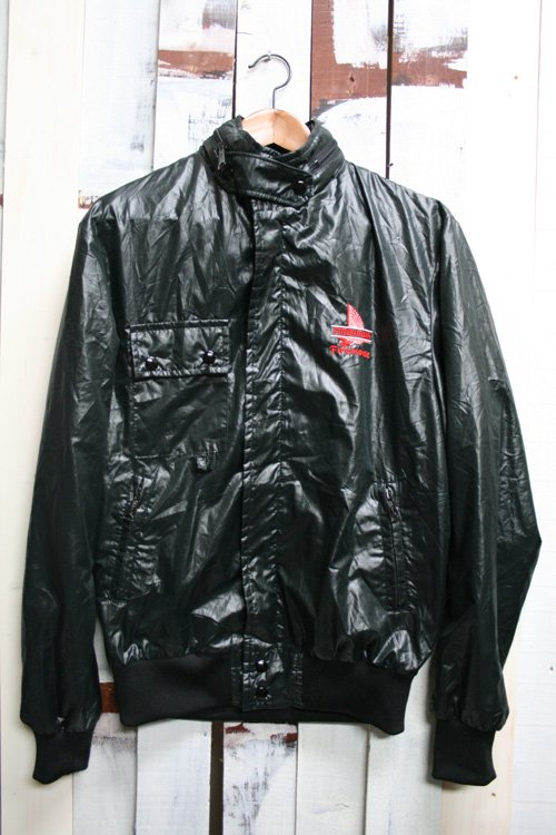 80年代頃 ナイロンブルゾンジャケット ブラック 古着 M