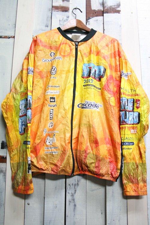 ペーパージャケット 古着 自転車 黄色 バイシクル