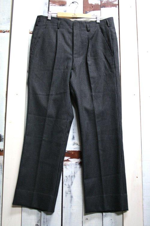 60年代 ビンテージ スラックス ブラック ストライプ 古着 黒 タキシードパンツ