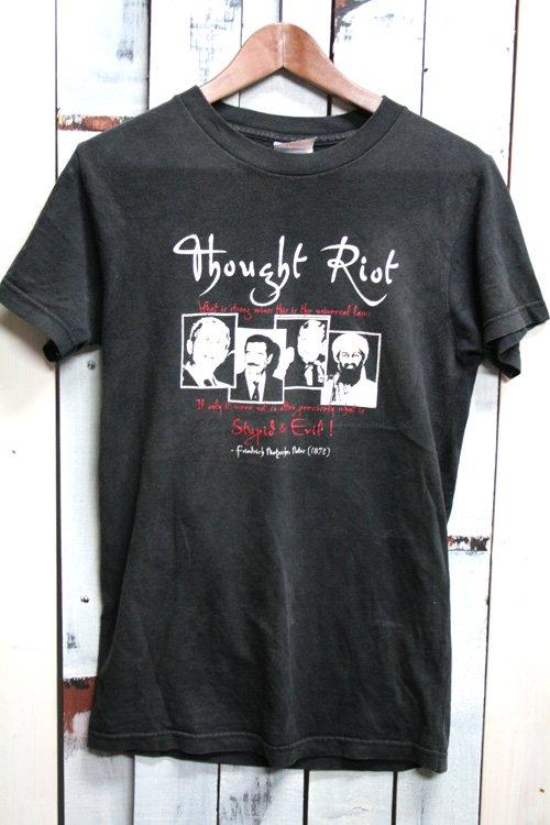 2000年代初頭。 ビンテージ Tシャツ 古着 ブッシュ大統領 フセイン ビン・ラーディン 黒 ブラック メッセージTシャツ