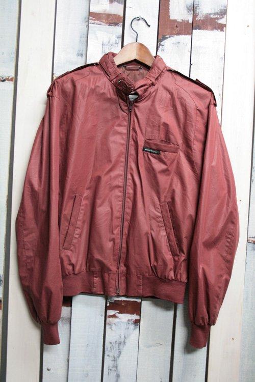80年代 MEMBERS ONLY・メンバーズオンリー ナイロンジャケット 古着 薄手 赤 レッド 赤茶