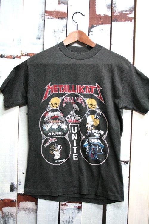 80年代 メタリカ (Metallica)  ビンテージ バンドTシャツ バンドT ロックT 黒 ブラック UNITE ヴィンテ…