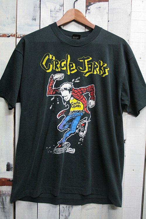 90年代 CIRCLE JERKS (サークル・ジャークス) SKANK MAN Tシャツ ビンテージ バンドTシャツ ブラック 黒 古着