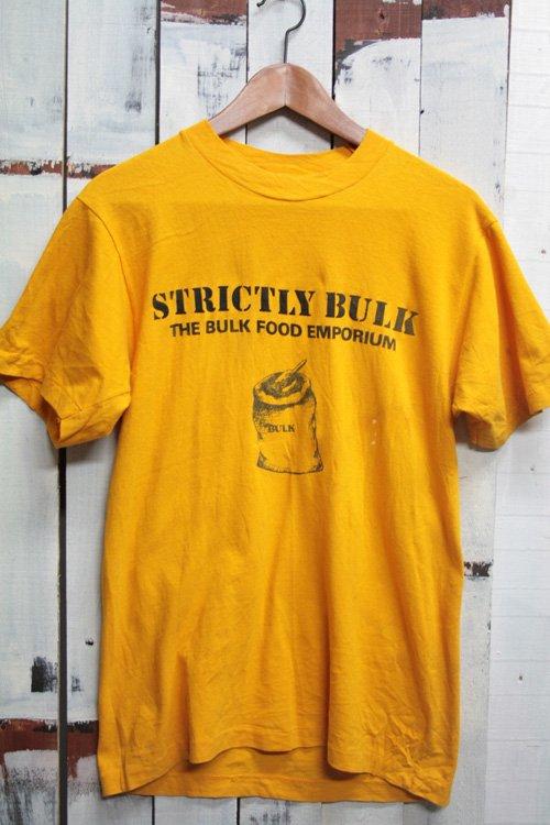 80-90年代頃 ビンテージTシャツ プリントTシャツ 古着 青 イエロー 黄色 Tシャツ ビンテージ