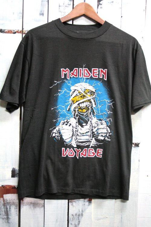 80年代 ビンテージバンドTシャツ アイアンメイデン IRON MAIDEN ブラック 黒 Maiden Voyage
