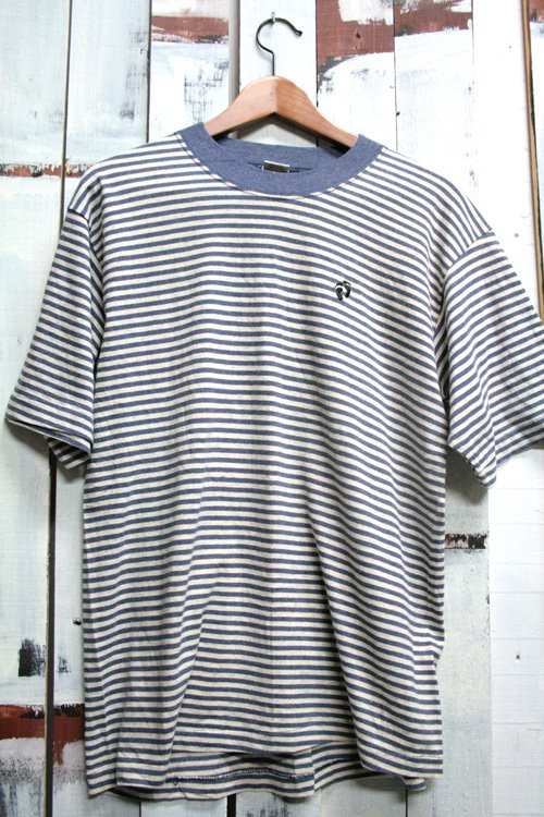 古着 HANG TEN ハンテン ボーダー Tシャツ グレイ ネイビー サーフ Tシャツ