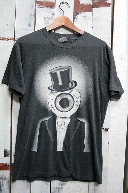 90年代 ビンテージ Tシャツ 目玉 キャラクター ブラック 黒 ヴィンテージ 古着