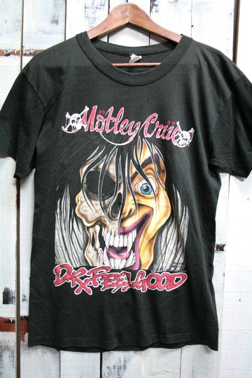 90年代 ビンテージバンドTシャツ モトリー・クルー (Motley Crue) 古着 ビンテージ ヴィンテージ バンドTシャツ ブラック 黒 ドクター・フィールグッド (Dr.Feelgood)