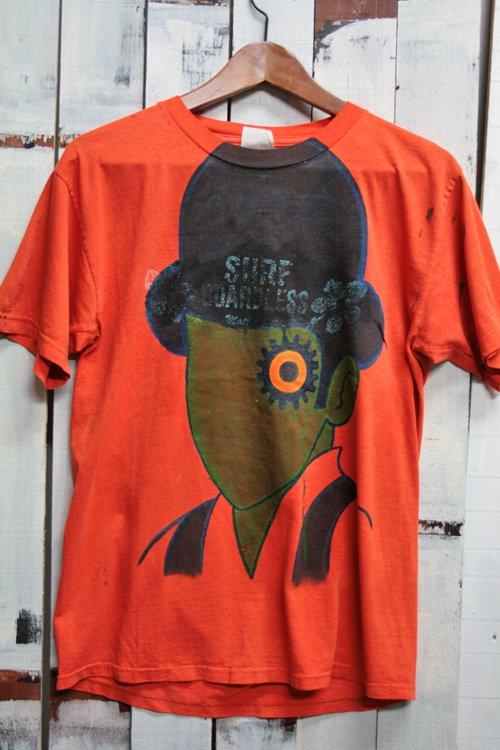 90年代 ビンテージ Tシャツ 時計仕掛けのオレンジ A CLOCKWORK ORANGE オレンジ ハンドペイント ボロ 古着