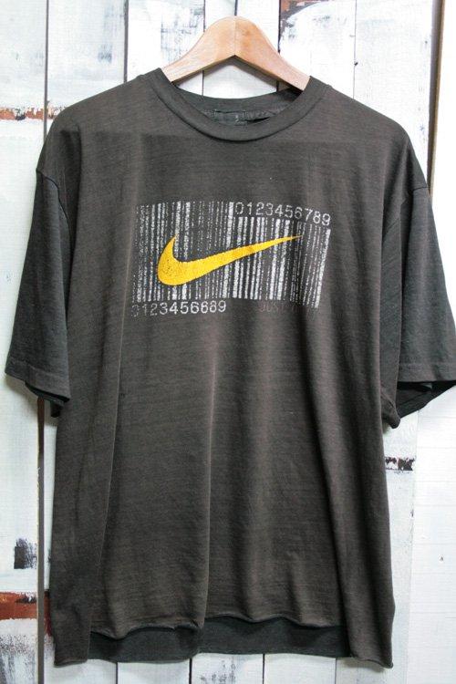 90年代 ビンテージ Tシャツ ナイキ NIKE ロゴ バーコード ブラック 黒 JUST DO IT ボロ