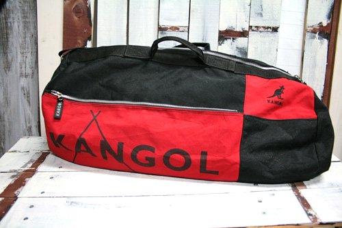 KANGOL カンゴール ドラムバッグ 赤 黒 レッド ブラック 中古 大型