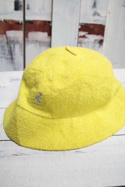 古着 KANGOL カンゴール バケットハット 帽子 イエロー メンズ レディース