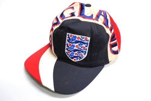 古着 総柄 キャップ CAP ベースボールキャップ 赤 レッド イングランド