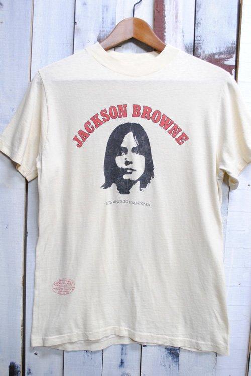 70年代 JACKSON BROWNE ジャクソンブラウン ヴィンテージTシャツ 古着 オフホワイト 白 バンドTシャツ ヴィンテージ