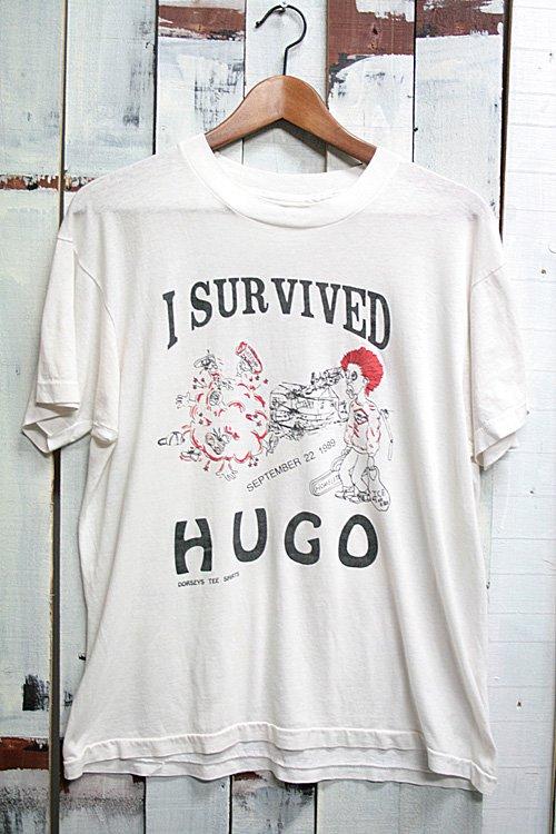80年代 ヴィンテージ Tシャツ パンク ハードコア ホワイト 白 ロック i survived houg 古着 バンドTシャツ