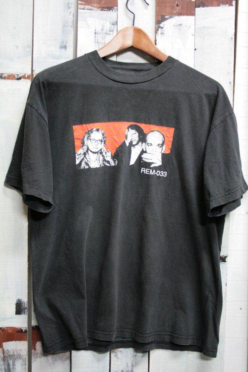 90年代 R.E.M. バンドTシャツ ブラック 黒 1999年 ツアーTシャツ ヴィンテージ 古着