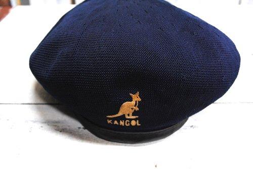 古着 KANGOL(カンゴール)ベレー帽 帽子 ネイビー 紺 中古 イングランド製