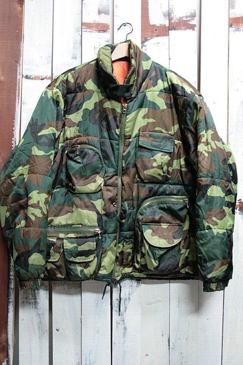 古着 迷彩柄 ナイロンジャケット ウッドランドカモ カモフラージュ グリーン メンズ ハンティングジャケット アウトドアジャケット
