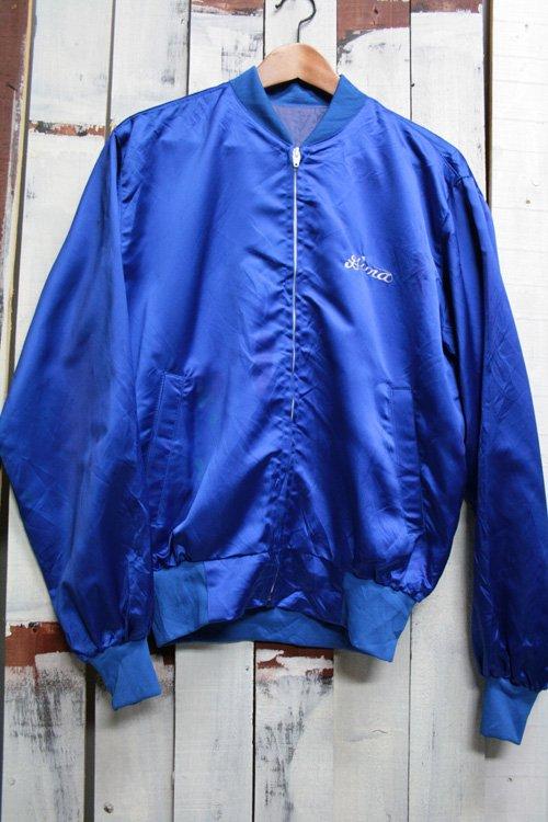 80年代頃 古着 ナイロンジャケット 刺繍 ドラゴン ブルゾンジャケット ブルー 青