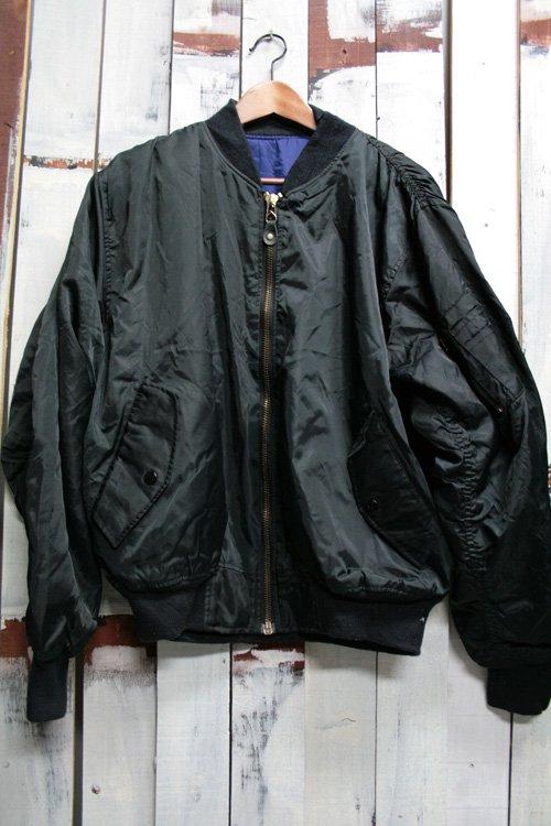 古着 MA-1 ミリタリージャケット ブラック 黒 メンズ