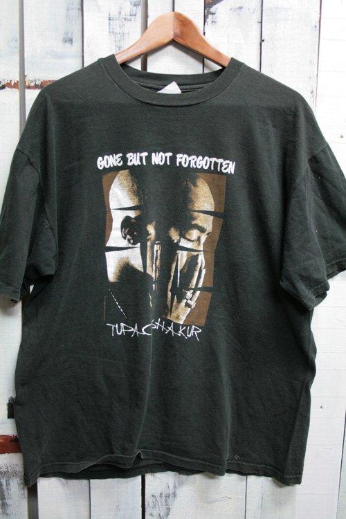 90年代 2パック TUPAC  トゥパック 2pac ヴィンテージTシャツ ブラック 黒 ヒップホップ ラップ 古着 Gone But Not Forgotten