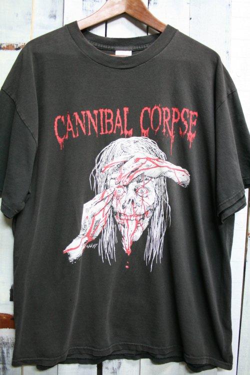 90年代 カンニバルコープス CANNIBAL CORPSE ヴィンテージTシャツ ヴィンテージバンドTシャツ ブラック 黒 デスメタル ロック 古着 Tシャツ XL