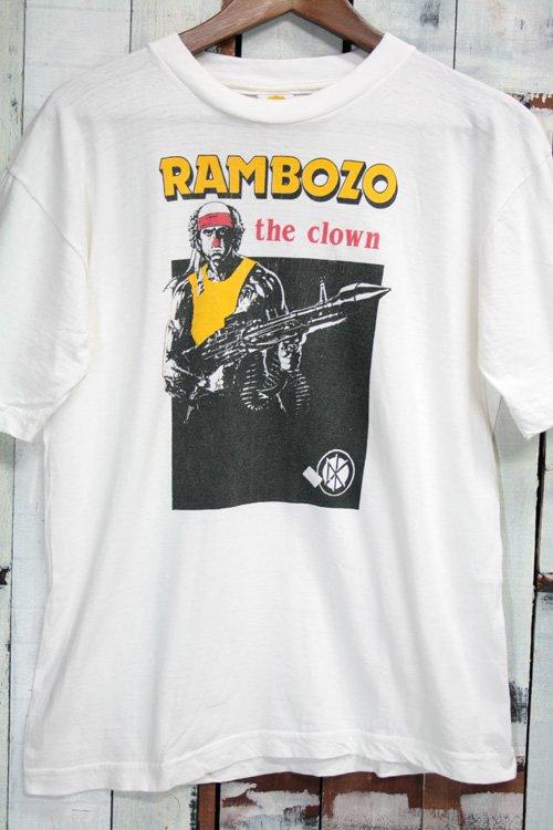 80年代 デッドケネディーズ Dead Kennedys ヴィンテージTシャツ Tシャツ バンドTシャツ ホワイト 白 RAMBOZO THE CLOWN 古着