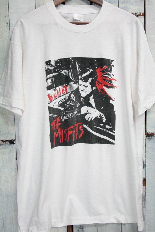 90年代 ミスフィッツ The Misfits Bullet バレット ヴィンテージTシャツ Tシャツ バンドTシャツ ホワイト 白 ケネディ 古着
