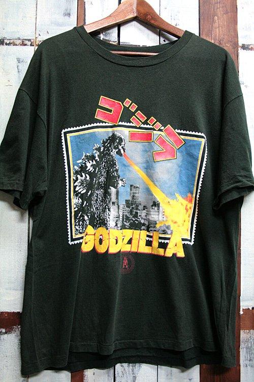 90年代 ヴィンテージTシャツ Tシャツ ゴジラ Godzilla ブラック 黒 ビンテージ プリントTシャツ 古着