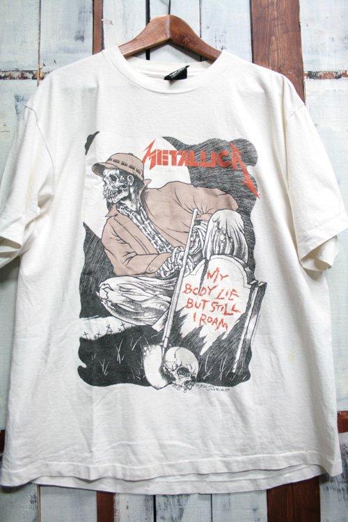 90年代 メタリカ Metallica Pushead パスヘッド バンドTシャツ Tシャツ プリントシャツ ヴィンテージ ホワイト 白 古着