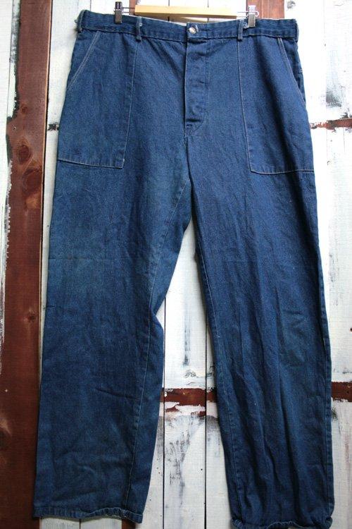 80年代頃 ベイカータイプ デニムパンツ Lポケ ワークパンツ 古着 ビッグサイズ
