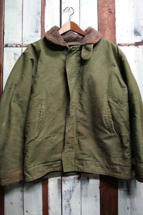 60年代 フランス ネイビー デッキジャケット 古着 フレンチネイビー オリーブ