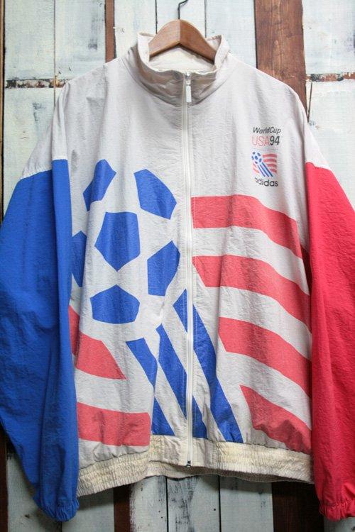 90年代 ADIDAS アディダス 94年 ワールドカップ USA ナイロンジャケット 古着 ビンテージ