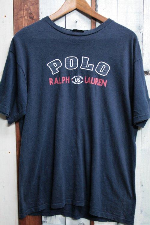 ポロ ラルフローレン/Polo by Ralph Lauren ロゴ プリント Tシャツ 半袖 ネイビー 紺