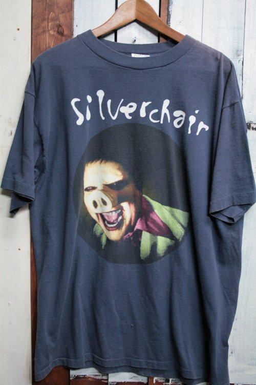 90年代 ビンテージ  バンドTシャツ Tシャツ プリントシャツ silver chair シルヴァーチェアー ネイビー 紺 古着