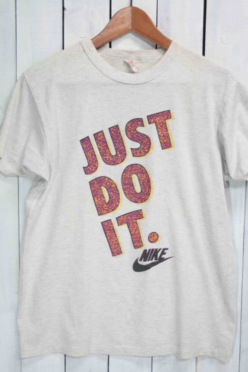 90年代 古着 NIKE ナイキ Tシャツ 霜降りホワイト 白 JUST DO IT