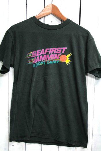 90年代 古着 NIKE ナイキ Tシャツ シアトル・スーパーソニックス Seattle SuperSonics  バスケットボール ブラック 黒
