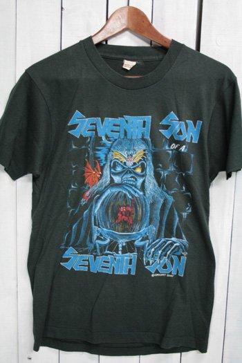 80年代  アイアンメイデン IRON MAIDEN ヴィンテージ Tシャツ ブラック 黒 Seventh Son Of A Seventh Son