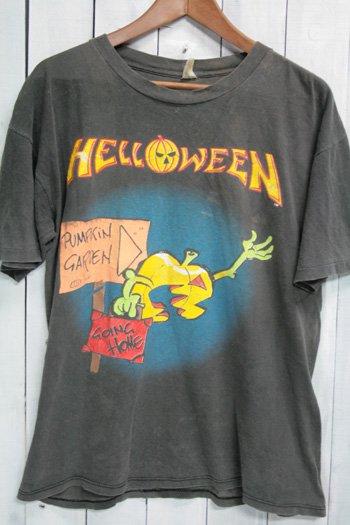 90年代 ハロウィン Helloween ビンテージ Tシャツ バンドTシャツ ブラック 黒 pumpkin lottery ボロ