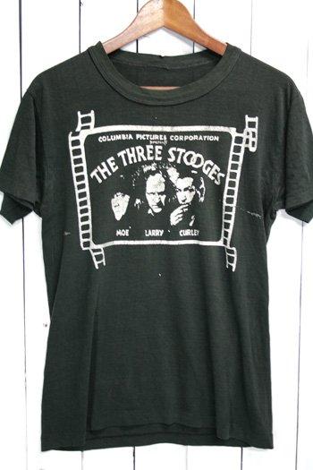 80年代 The Three Stooges 古着  Tシャツ ブラック 黒 コメディー