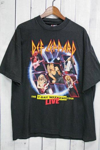 90年代 デフ・レパード Def Leppard ビンテージ Tシャツ バンドTシャツ ブラック 黒 ツアーTシャツ
